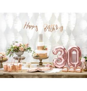 Set de 10 cajas de regalo rosa con lunares dorados - Wedding in rose colour