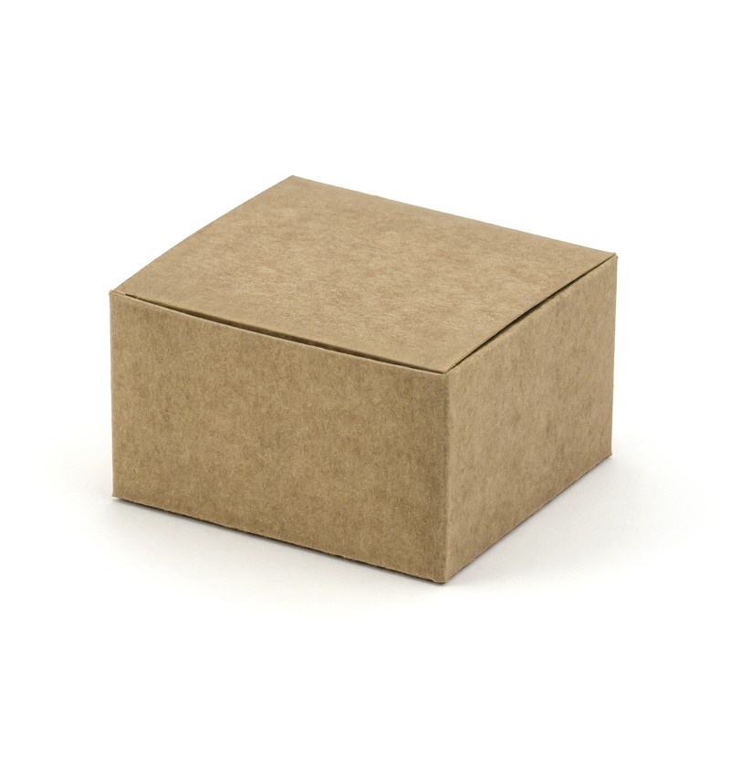 Set de 10 cajas de regalo cuadradas de papel Kraft - Rustic Wedding