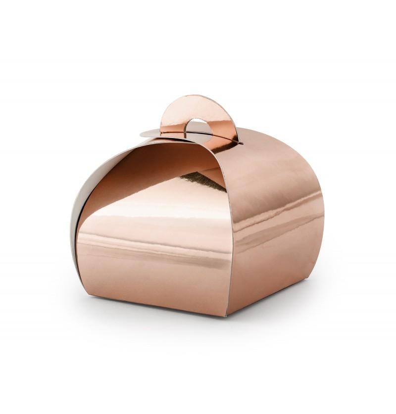 Set de 10 cajas de regalo oro rosa - Elegant Bliss