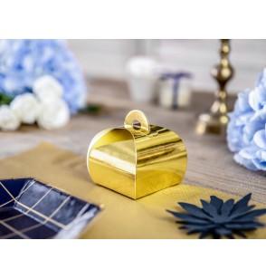 Set de 10 cajas de regalo doradas - White & Gold Wedding