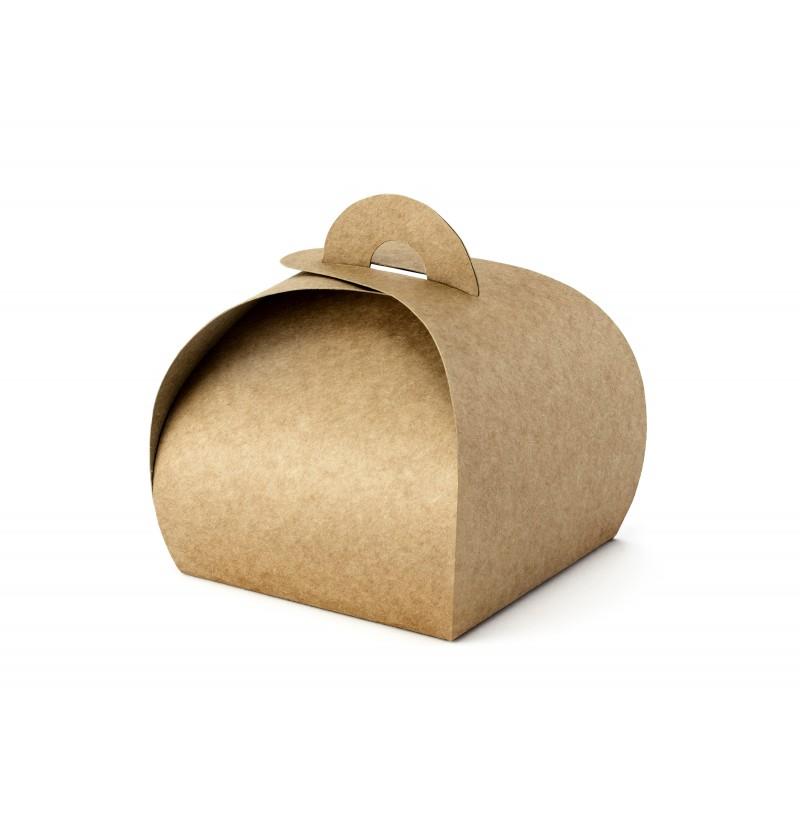 Set de 10 cajas pequeñas de regalo de papel Kraft - Rustic Wedding