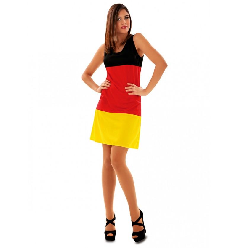 Vestido de bandera alemana para mujer