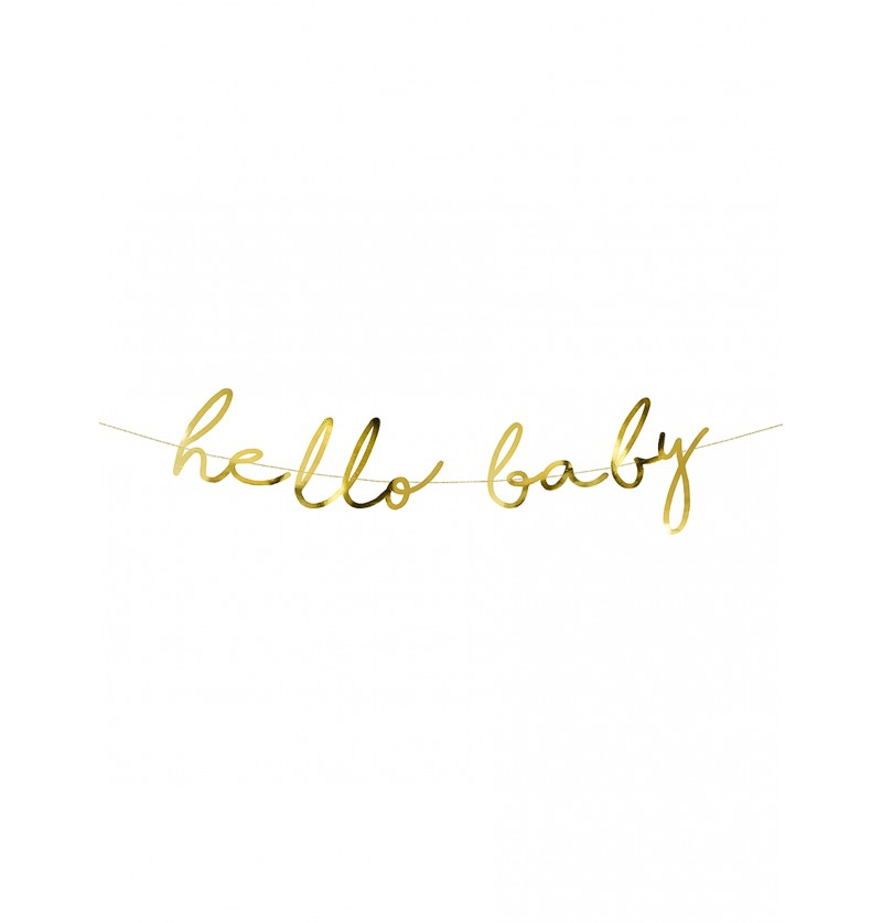Guirnalda dorada Hello Baby - Little Star