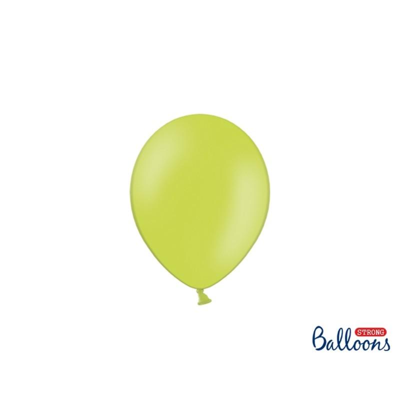 Set de 100 globos extra resistentes 12 cm verde lima