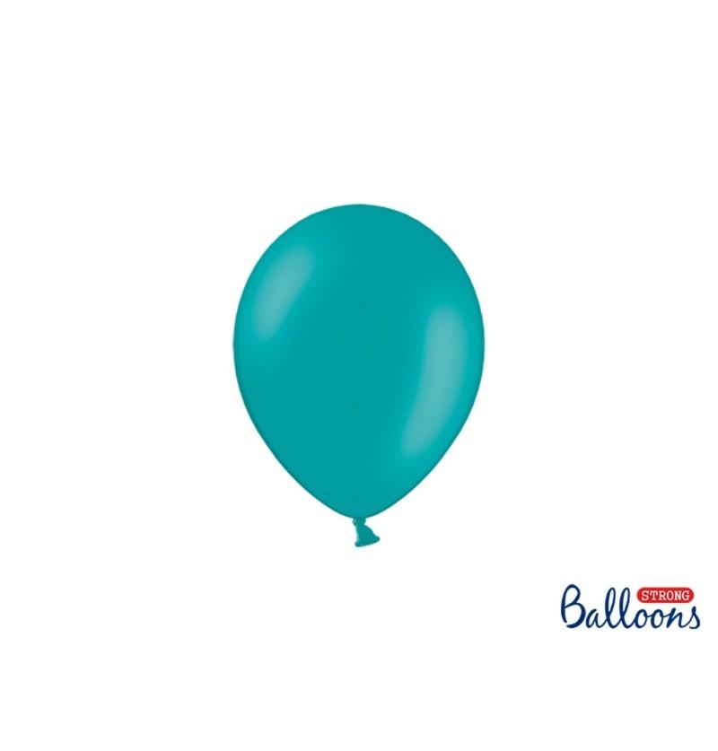 Set de 100 globos extra resistentes 12 cm azul cielo