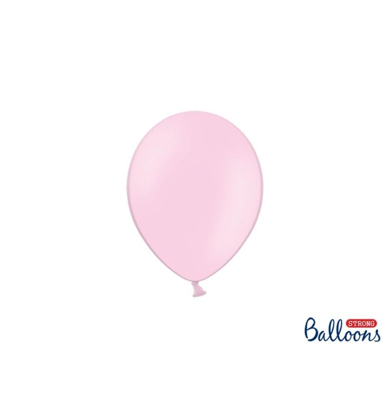Set de 100 globos extra resistentes 12 cm rosa