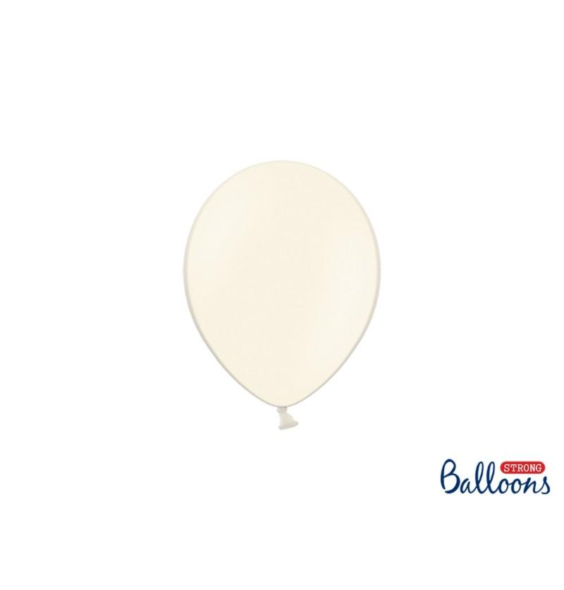 Set de 100 globos extra resistentes 12 cm beige pastel