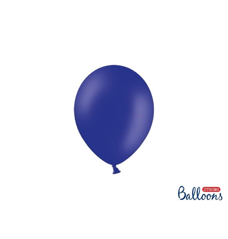 Set de 100 globos extra resistentes 12 cm azul real