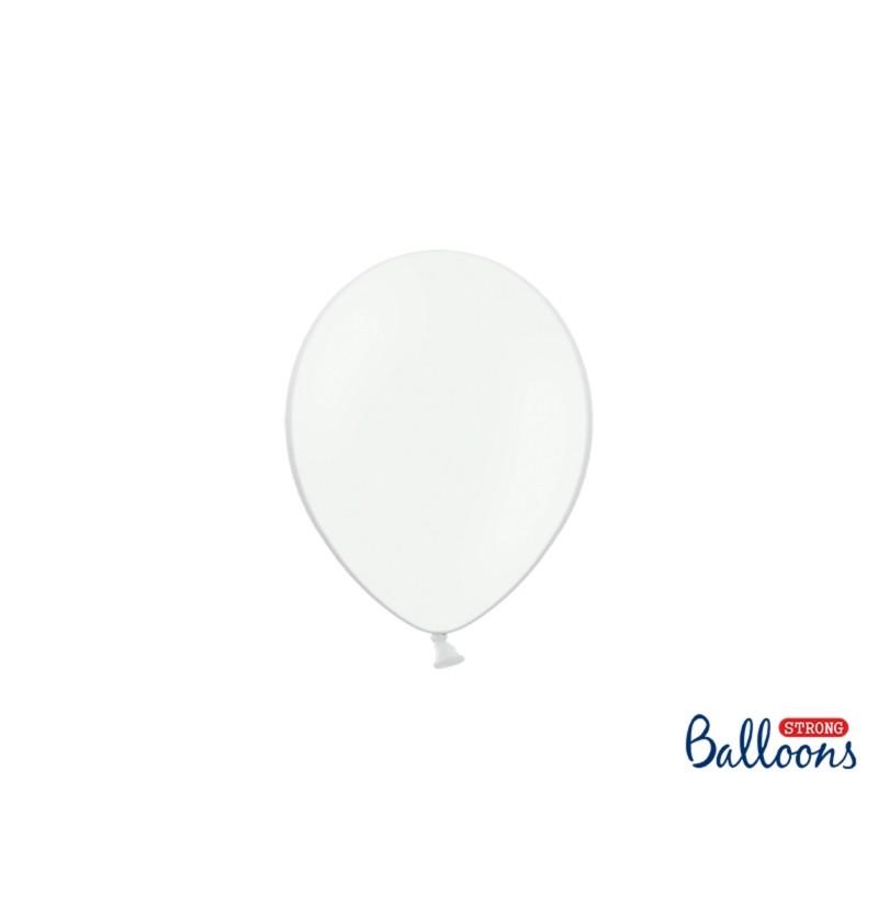 Set de 100 globos extra resistentes 12 cm blanco