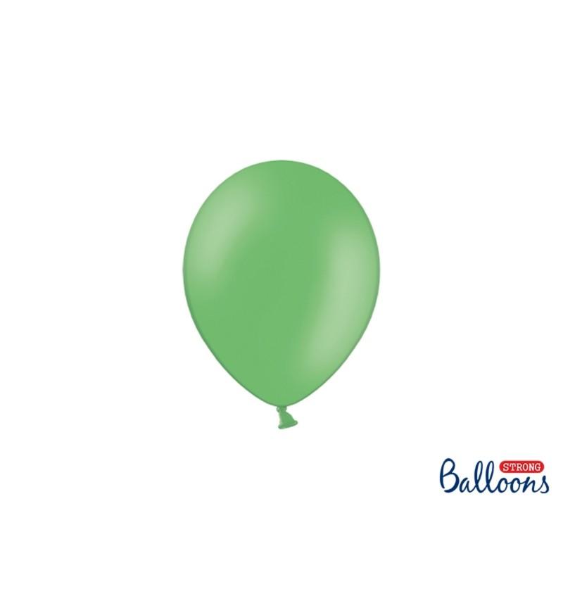 Set de 100 globos extra resistentes 12 cm verde pastel