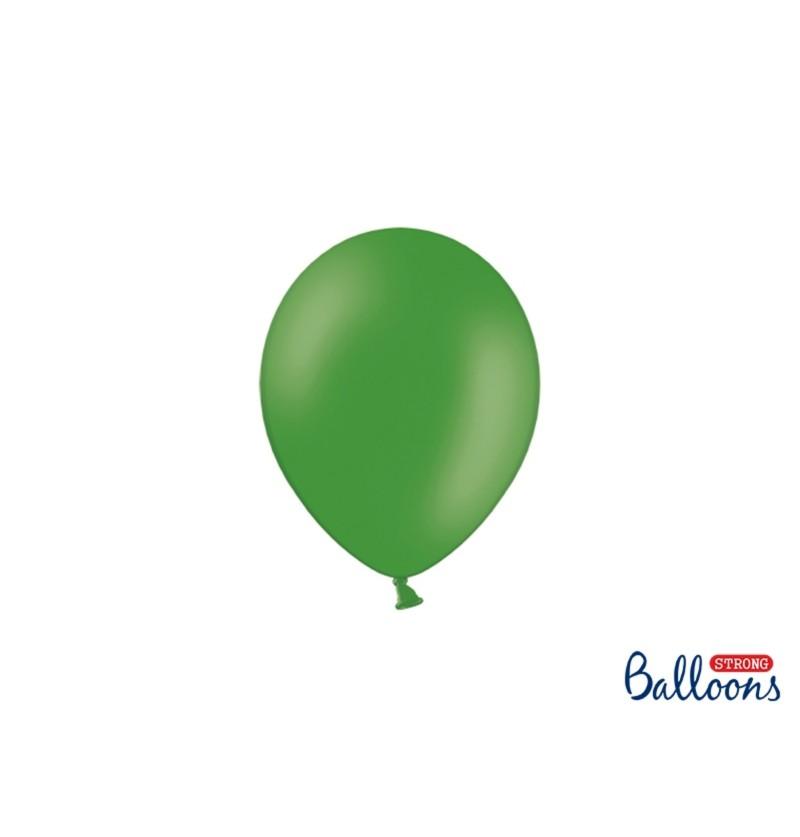 Set de 100 globos extra resistentes 12 cm verde esmeralda