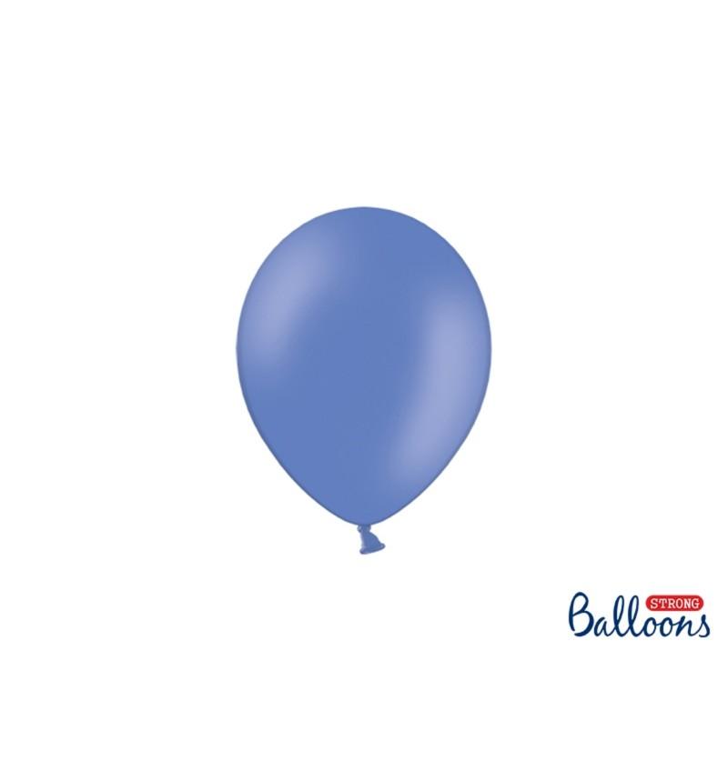 Set de 100 globos extra resistentes 12 cm azul marengo