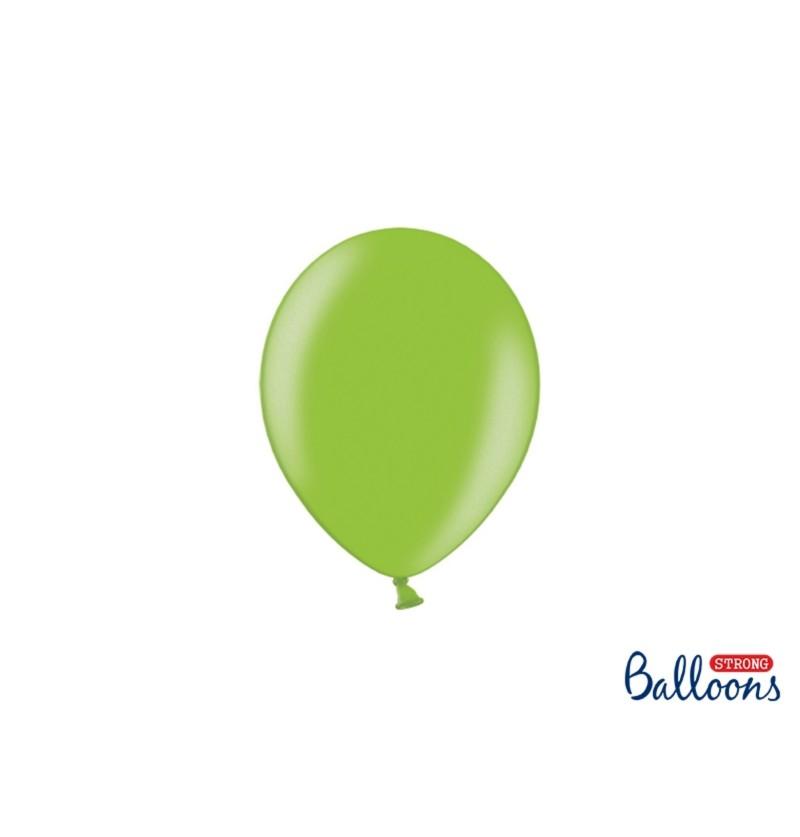 Set de 100 globos extra resistentes 12 cm verde brillante