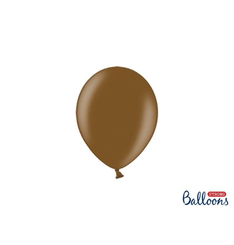 Set de 100 globos extra resistentes 12 cm marrón metalizados