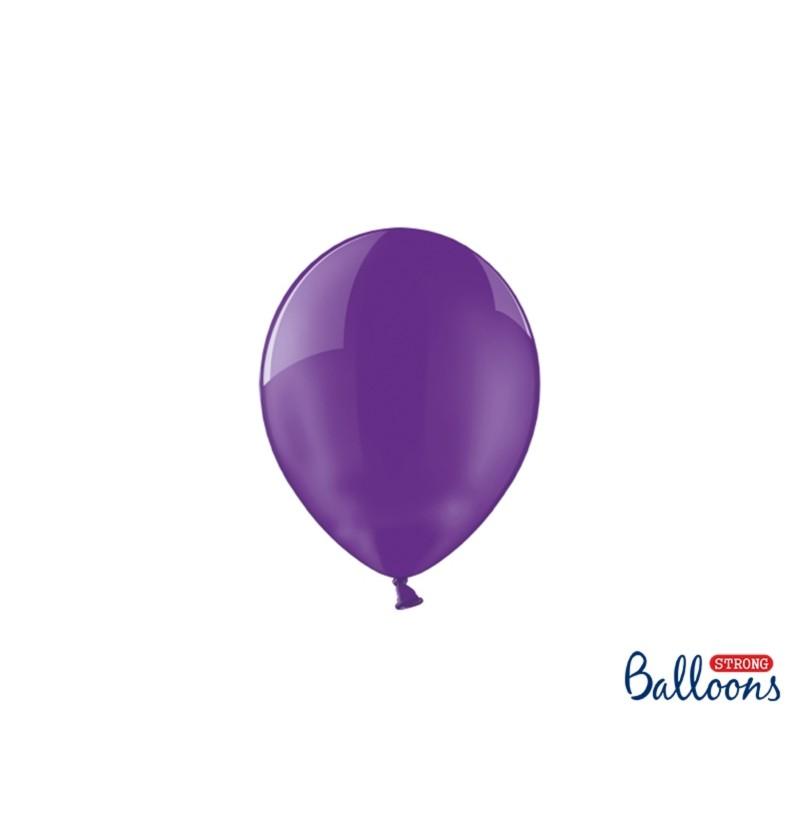 Set de 100 globos extra resistentes 12 cm lila