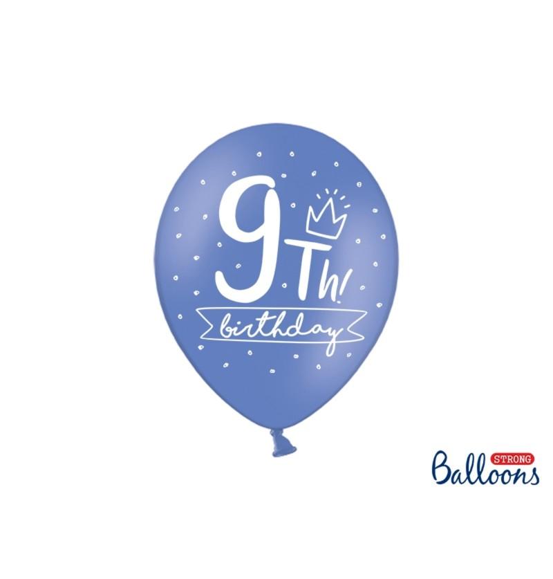 Set de 50 globos extra resistentes noveno cumpleaños