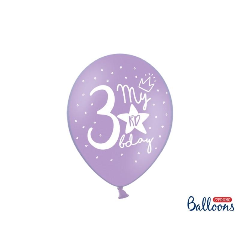 Set de 50 globos extra resistentes tercer cumpleaños