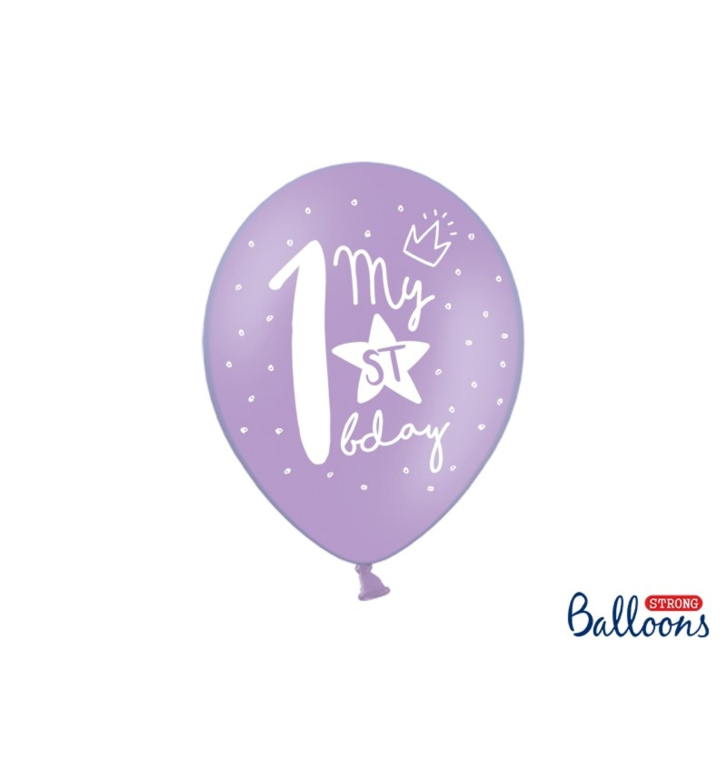 Set de 50 globos extra resistentes primer cumpleaños