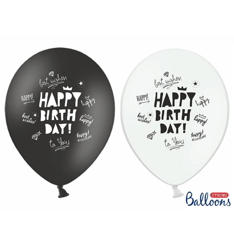 """Set de 50 globos de látex """"HAPPY BIRTHDAY TO YOU"""" tonos pastel surtidos"""