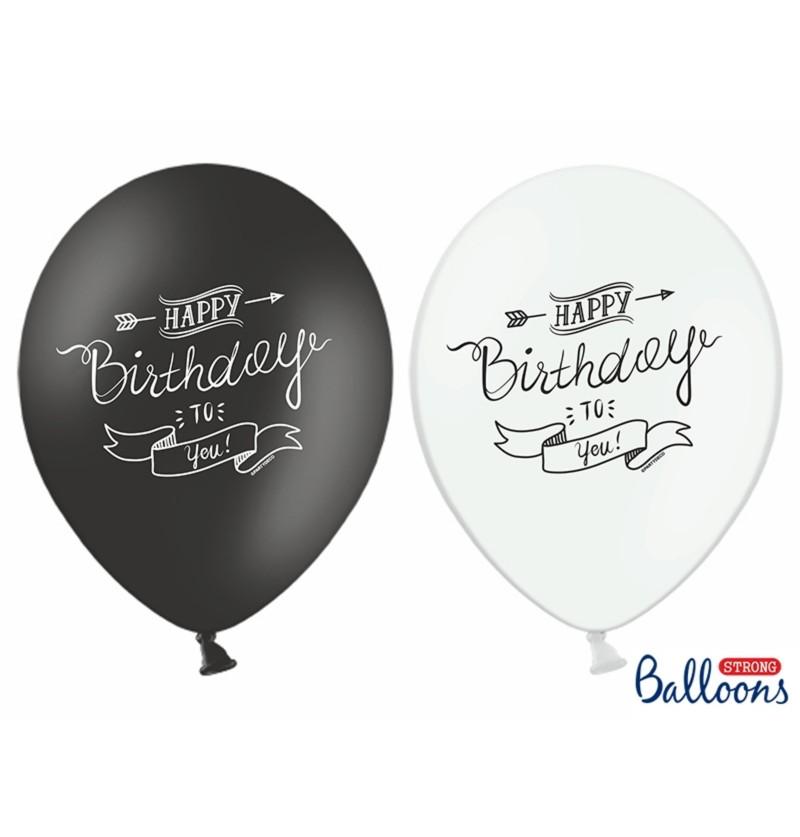 """Set de 50 globos de látex """"HAPPY BIRTHDAY TO YOU"""" surtidos"""