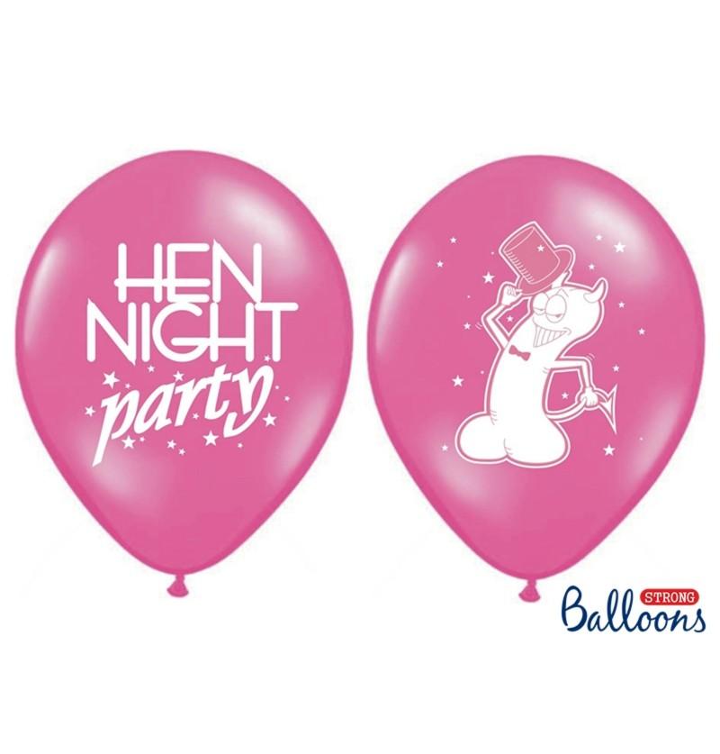 Set de 50 globos de látex para despedida de soltera rosa