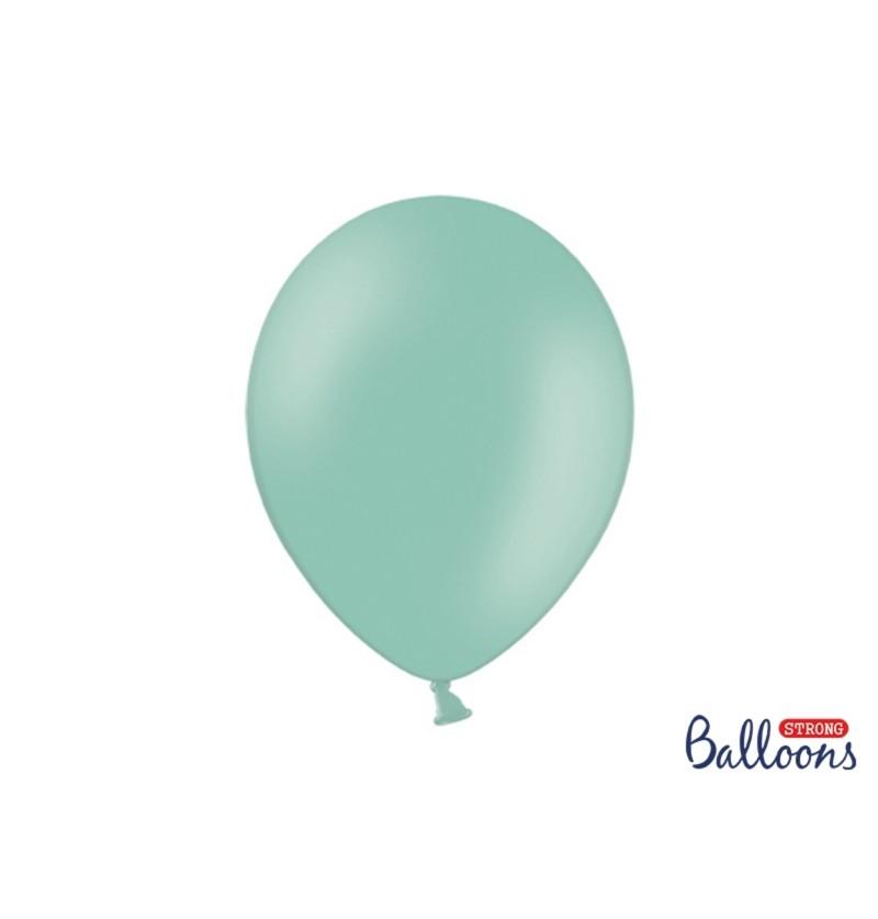 Set de 10 globos extra resistentes menta brillante