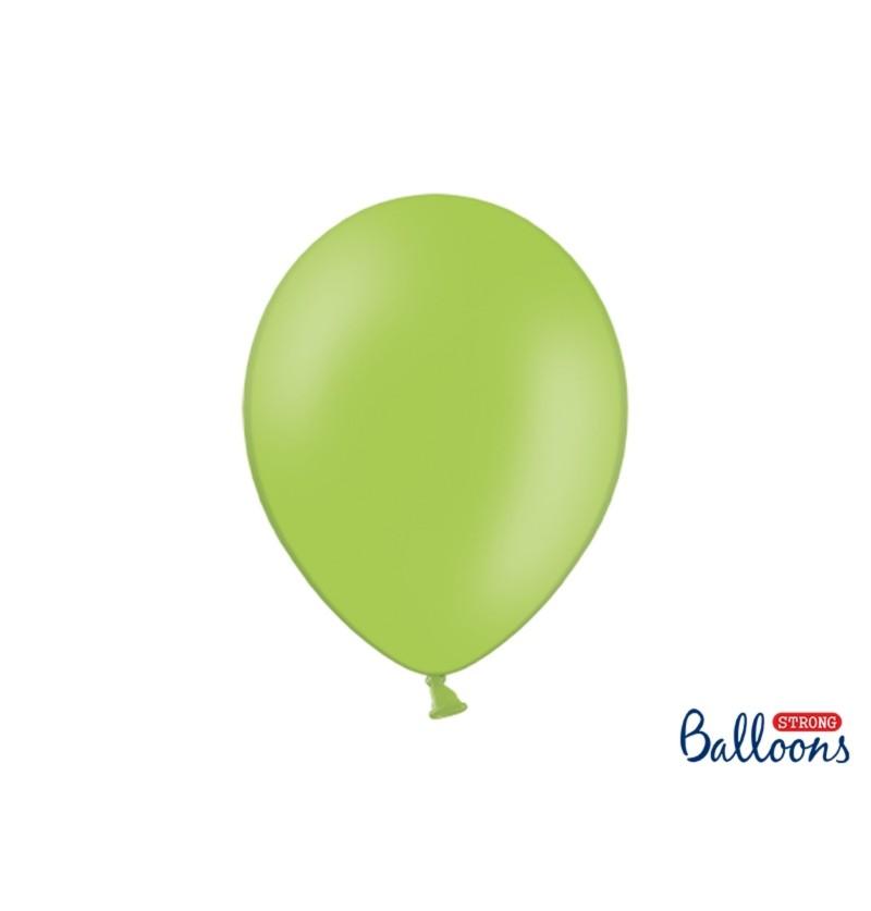 Set de 50 globos extra resistentes verde brillante