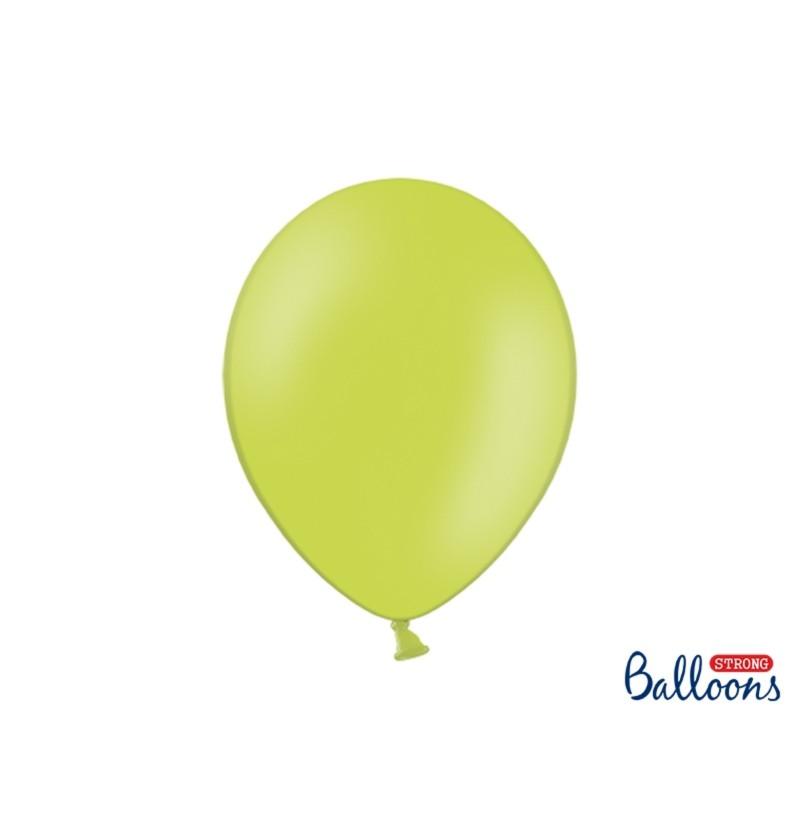 Set de 100 globos extra resistentes verde lima