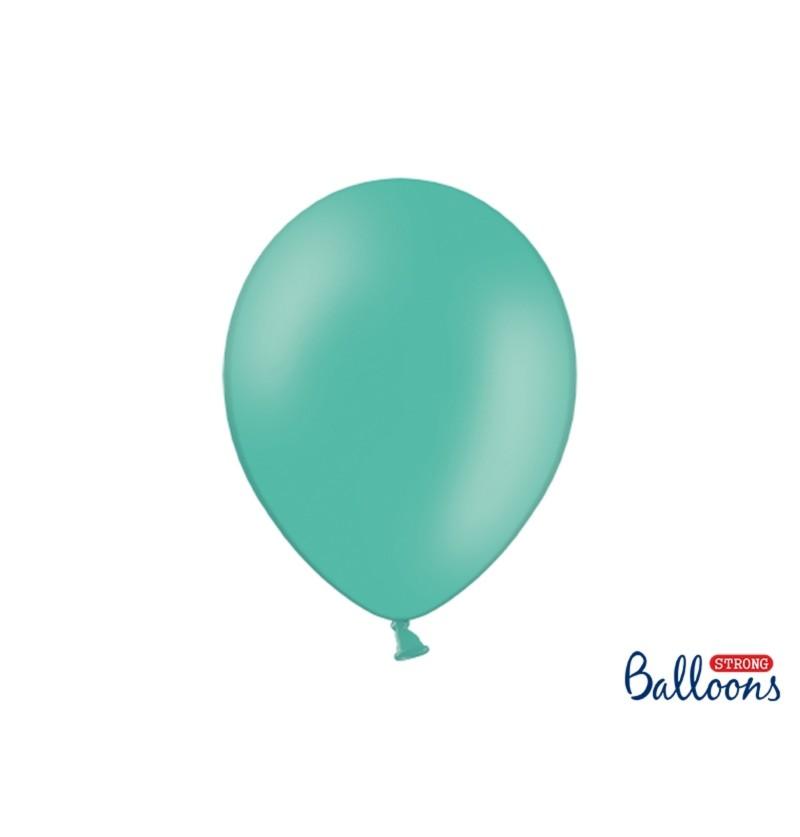 Set de 100 globos extra resistentes azul aguamarina