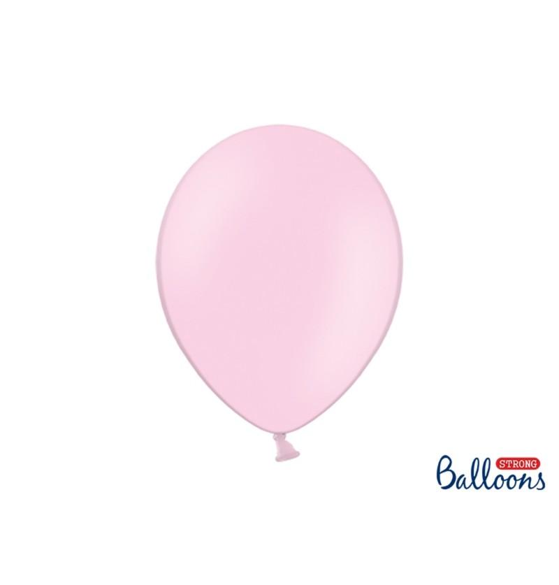 Set de 10 globos extra resistentes rosa pastel