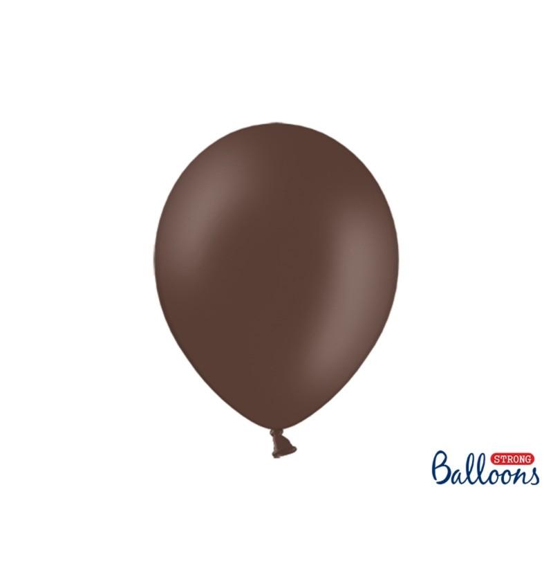 Set de 100 globos extra resistentes marrón oscuro