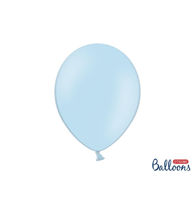 Set de 10 globos extra resistentes 30 cm azul pastel
