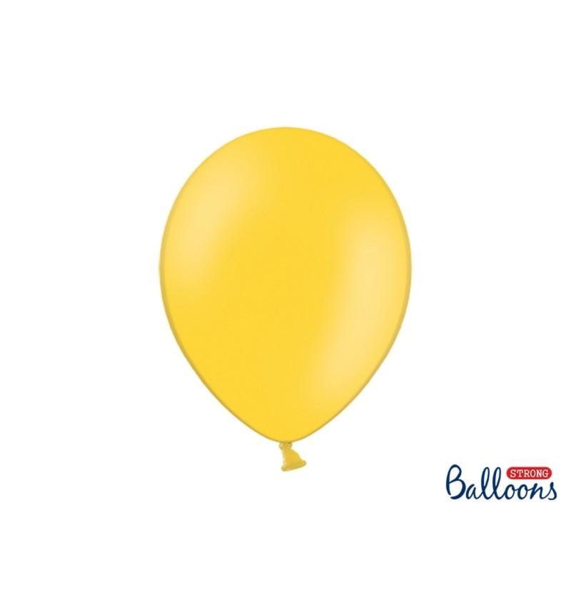 Set de 50 globos extra resistentes amarillo
