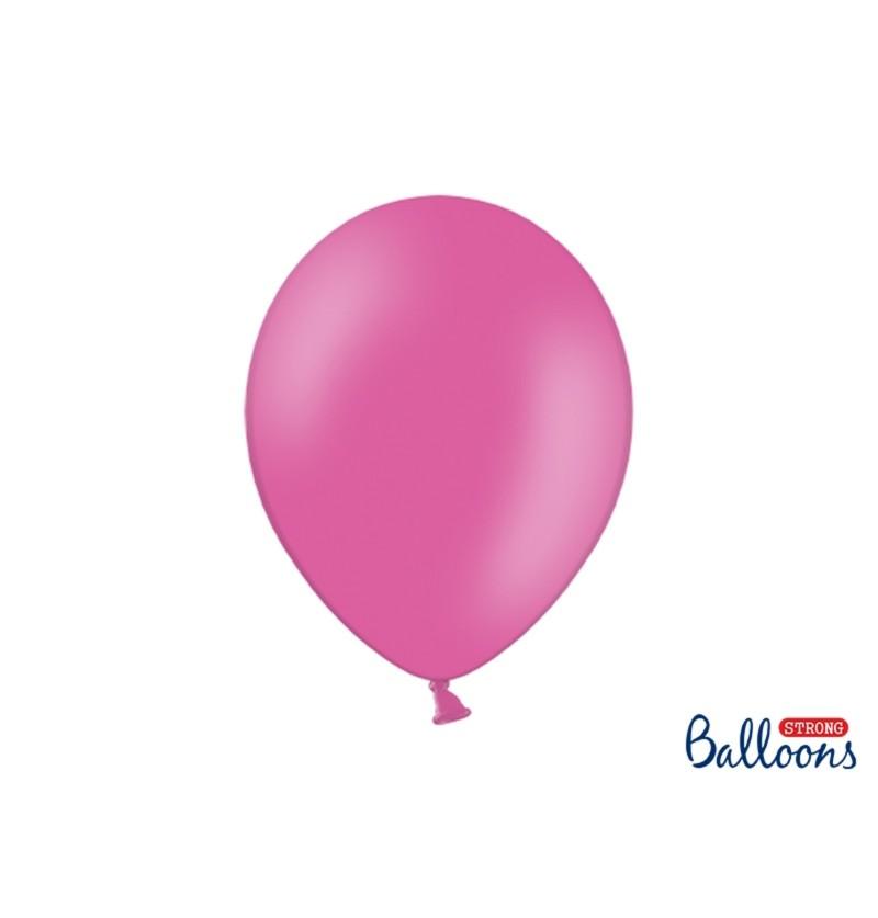 Set de 100 globos extra resistentes 30 cm rosa