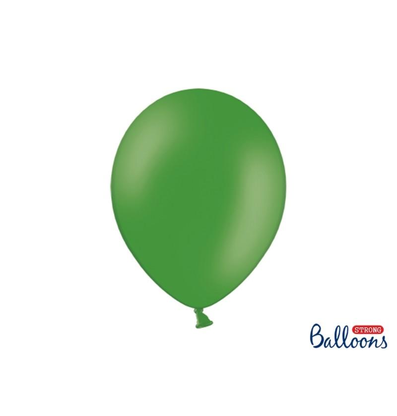 Set de 100 globos extra resistentes verde esmeralda