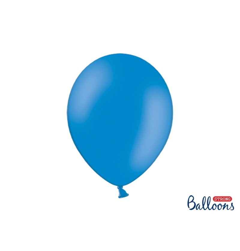 Set de 10 globos extra resistentes 30 cm azul pastel semiclaro