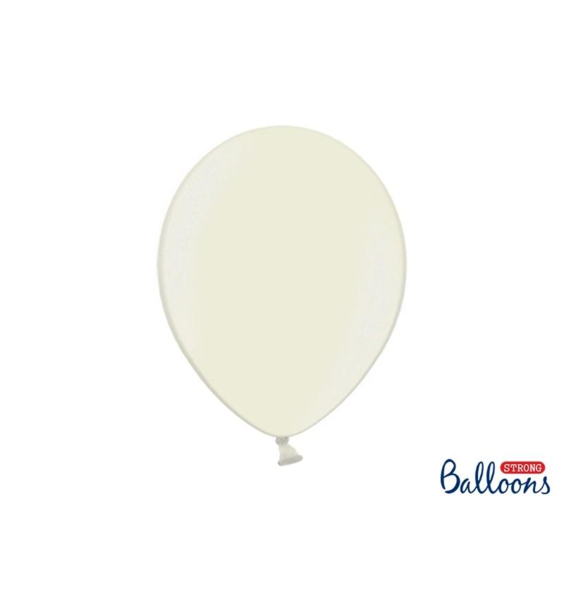 Set de 50 globos extra resistentes beige metalizados