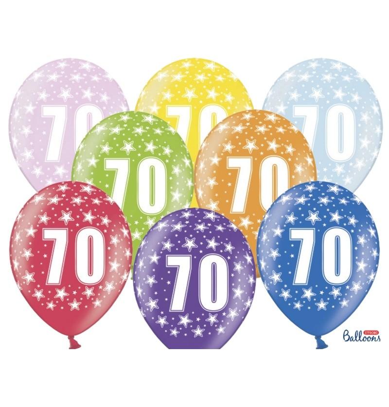 """Set de 100 globos de látex """"70""""multicolor"""