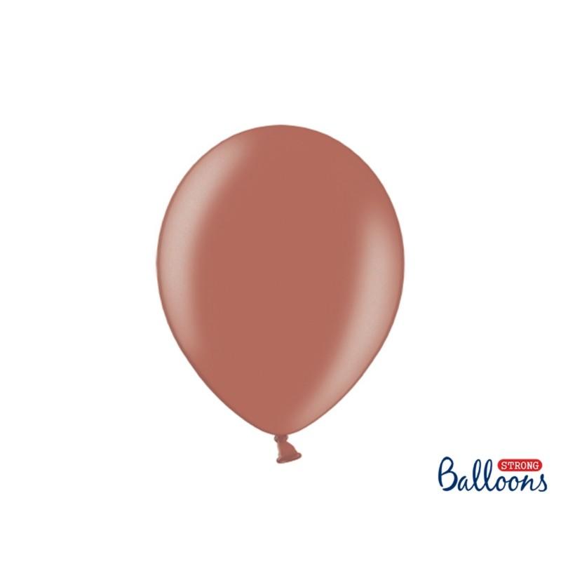 Set de 100 globos extra resistentes marrón tierra metalizados