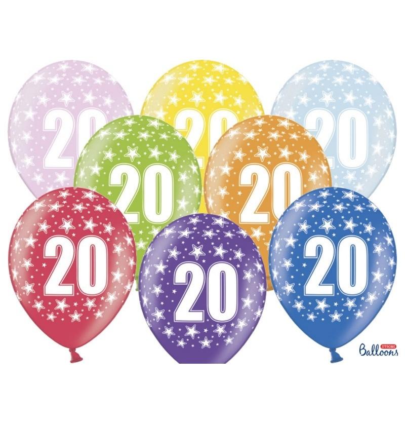 """Set de 50 globos de látex """"20""""multicolor"""