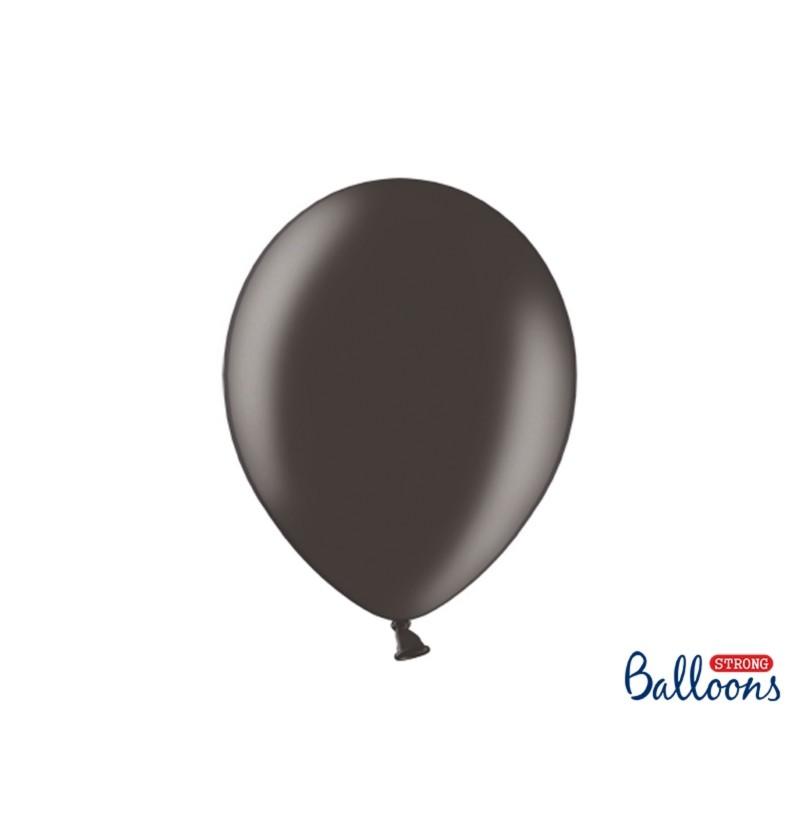 Set de 50 globos extra resistentes negros metalizados