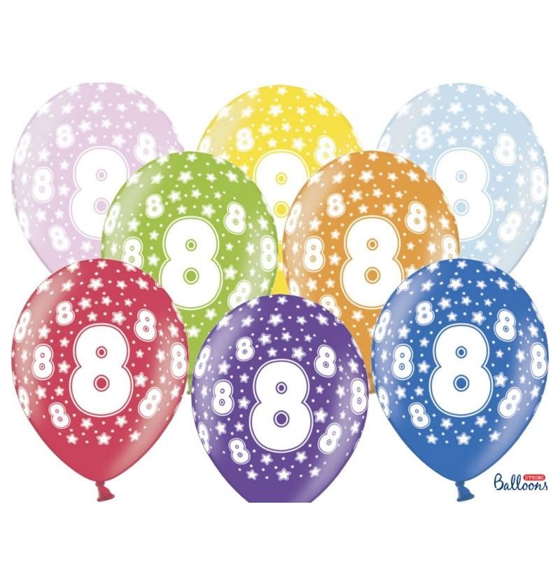 """Set de 50 globos de látex """"8""""multicolor"""