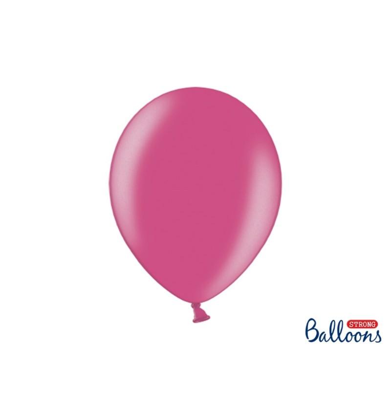 Set de 100 globos extra resistentes rosa metalizados