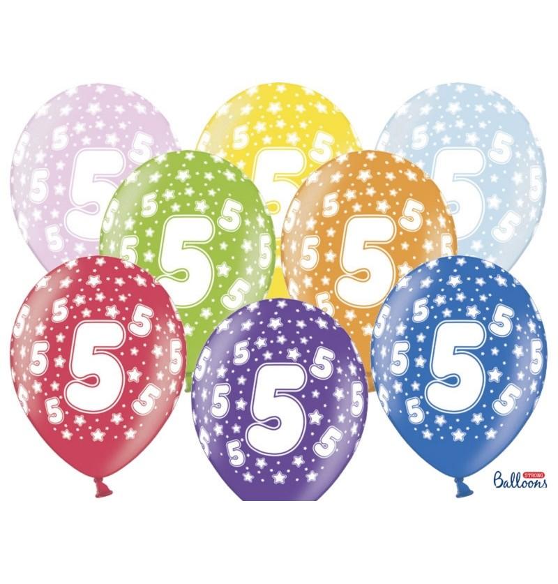 """Set de 50 globos de látex """"5""""multicolor"""