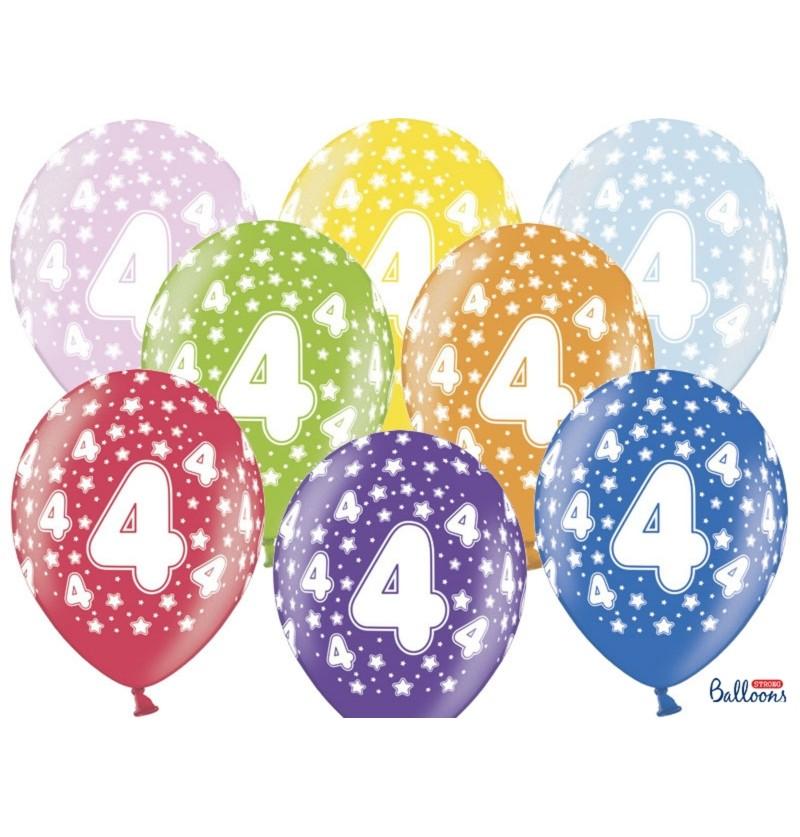 """Set de 50 globos de látex """"4""""multicolor"""