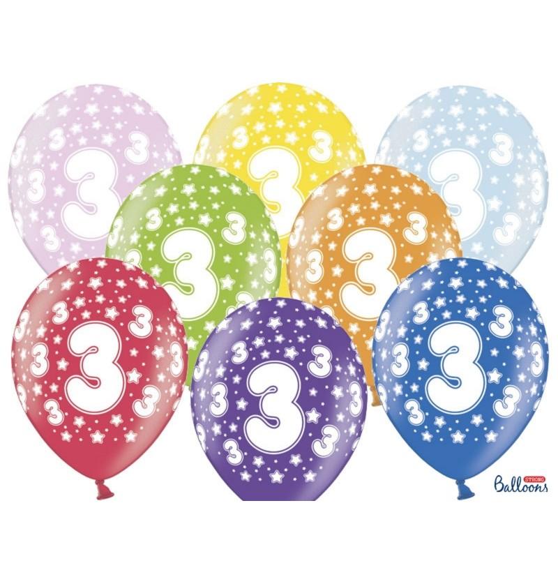 """Set de 50 globos de látex """"3""""multicolor"""