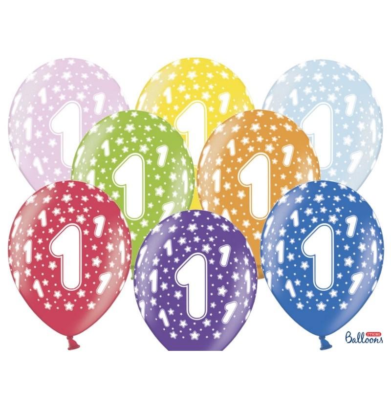 """Set de 50 globos de látex """"1""""multicolor"""