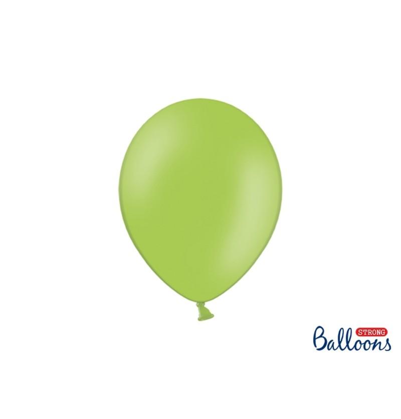 Set de 50 globos extra resistentes verde brillante metalizado