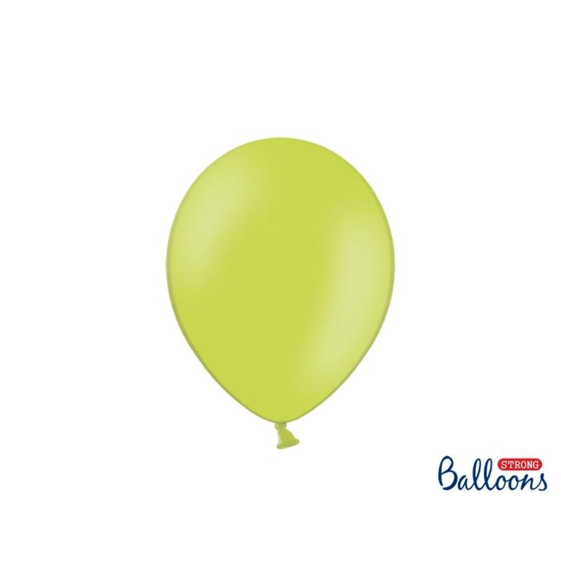 Set de 50 globos extra resistentes verde lima metalizado