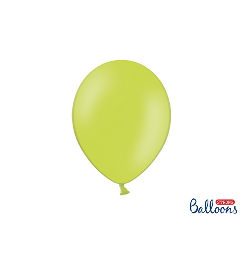 Set de 100 globos extra resistentes 27 cm verde lima pastel